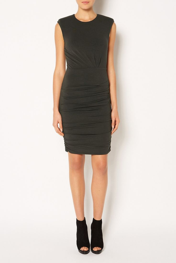 #witcherywishlist  Jersey Shoulder Dress - Clothing - New In - Her - Witchery $129.95
