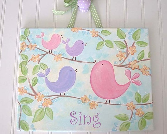 Love this for a little girls' room!