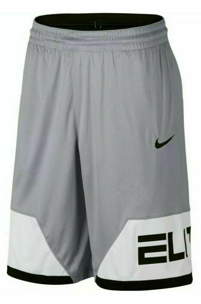 Nike Dry Elite Block Mens Basketball Shorts Wolf Grey White Black Aj3912 012 Nike Activewearshort In 2020 Basketball Shorts Nike Basketball Shorts Active Wear Shorts