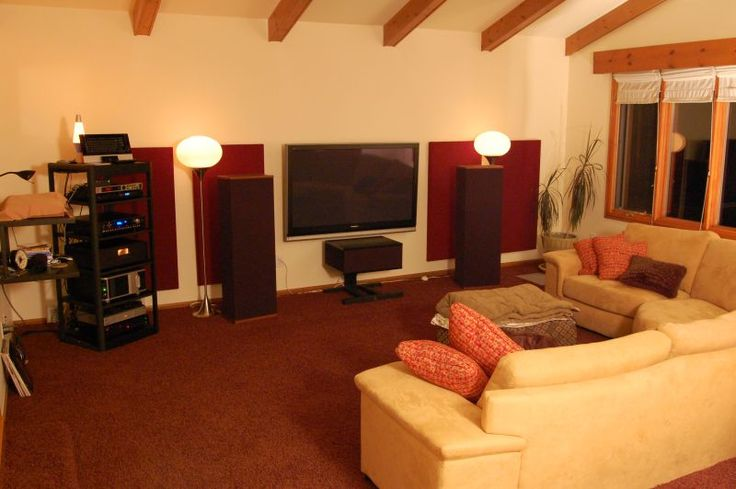 15 best living room ideas images on pinterest living for Home theater setup ideas