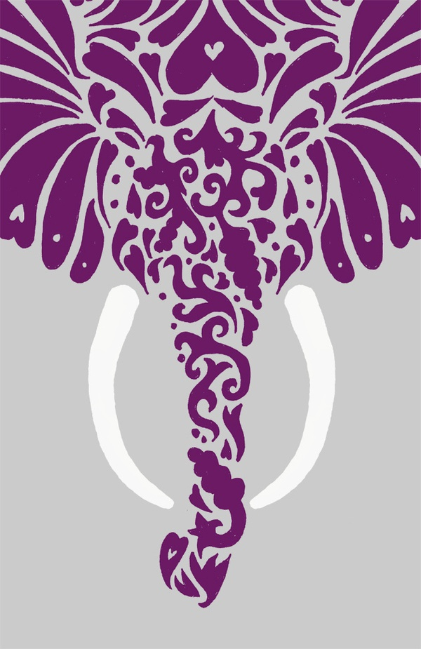 Purple elephant.