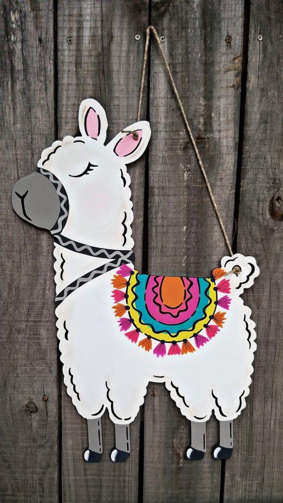 teacher door hanger summer door hanger Llama door hanger
