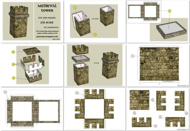 Free Scale Paper House Papermau: 382 Best Images About Paper Models On Pinterest