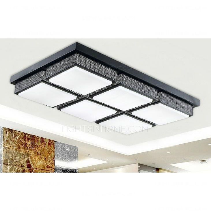 Attractive Affordable Rectangular Acrylic Shade 28.7 Inch Long Led Kitchen Ceiling  Lights
