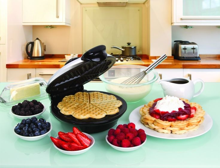 Make wonderful and #healthy breakfast for your #family with Heart Shaped Waffle Maker.