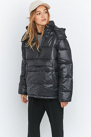 Light Before Dark Popover Black Puffer Jacket - Urban Outfitters