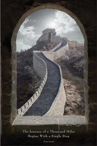 "The Great Wall of China-""The Journey of a Thousand Miles""-Lao-tzu Photography Poster Print 24 by 36-Inch"