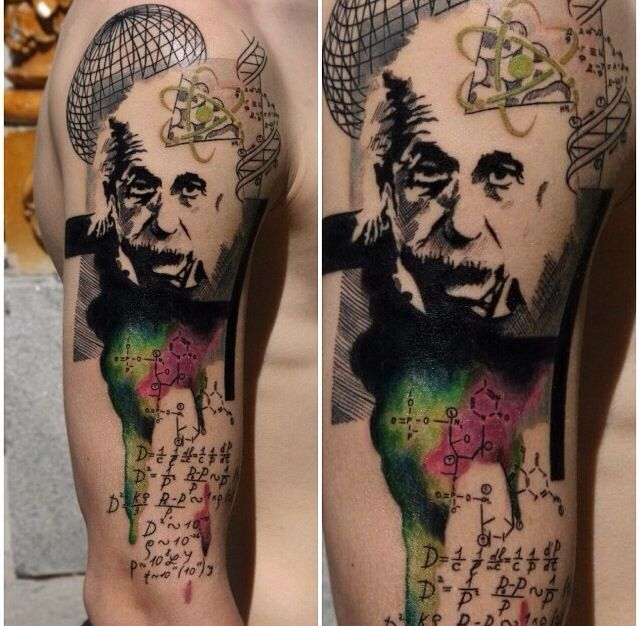 Einstein tattie #science #tattoo