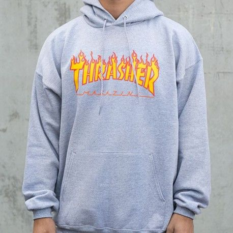 Thrasher Flame Hoodie Sweater Navy