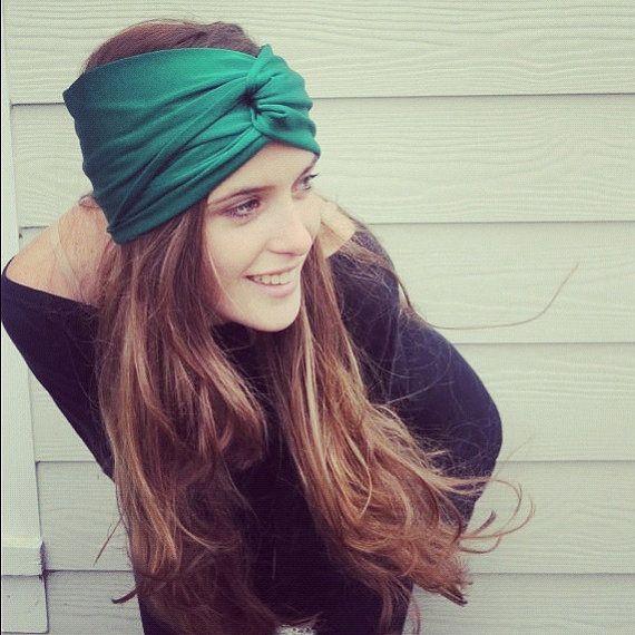 Turban Headband Emerald Green by AidenModernVintage via Etsy