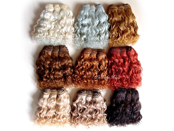 Weft doll hair mohair goat hair 1 m 9 colors for waldorf doll wig custom Blythe wig natural Wool Doll Hair laFiabarussa