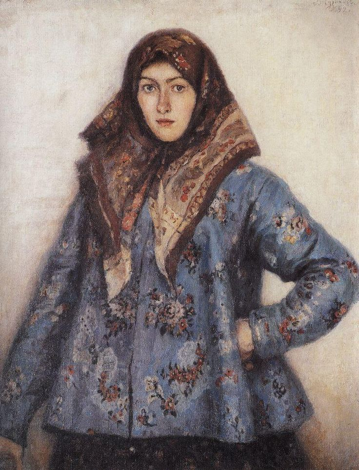 Vasily Surikov - Portrait of L.T. Matorina, Cossack Woman