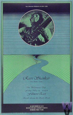 Ravi Shankar at Fillmore East 5/24/68 by David Byrd & Esgro