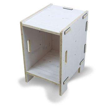 Werkhaus Shop - WERKBOX Hocker Fichte Weiß