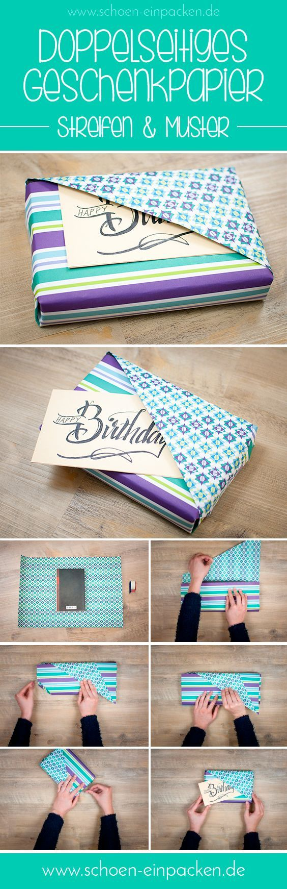 Wie du deinen Beschenkten ganz einfach durch eine tolle Verpackung glücklich machen kannst. #Geschenk #Verpacken #DIY #Glück