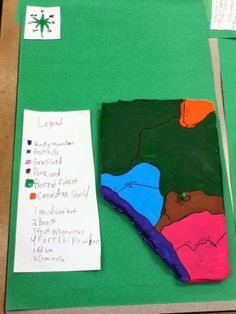 Geographical Regions of Alberta....love this idea to mix art and social studies!