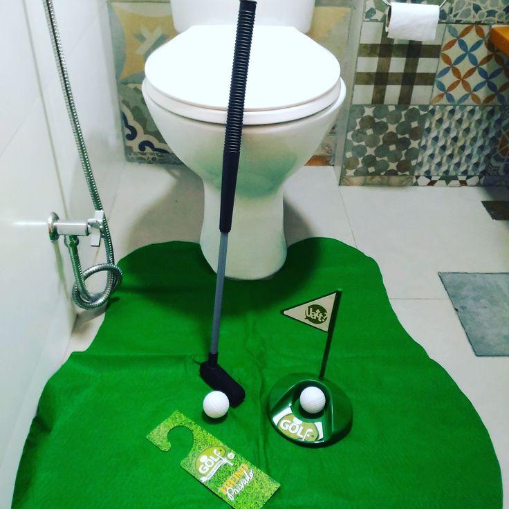 ⛳ Jogo de Banheiro Rei do Golf ⛳  http://www.gorilaclube.com.br/jogo-de-banheiro-rei-do-golf/p  #gorilaclube #presentes #presentescriativos #presentesdivertidos #decoraçãocriativa #decoraçãocriativa #presentes #golf #fãdeesportes