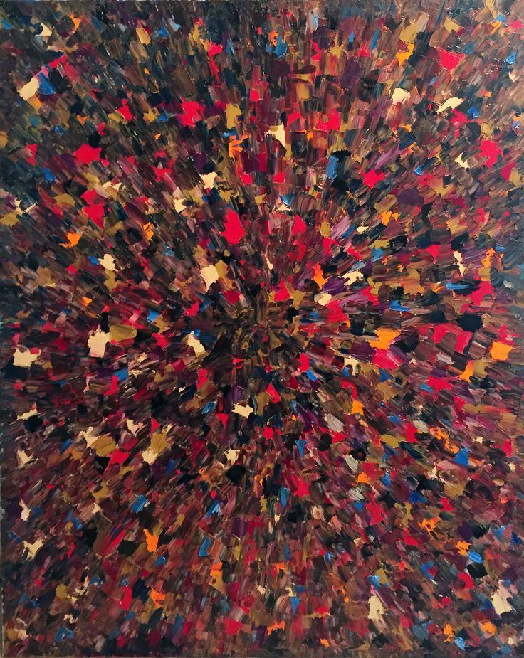 Leto Lama - 'The Big Bang' 152 x 103 Oil on canvas