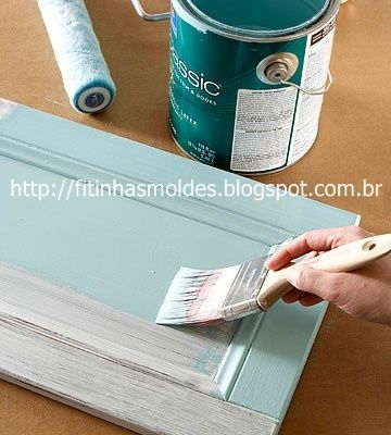 {paint cabinets/furniture #howto} with liquid sandpaper, which cuts out the sanding step!
