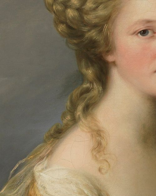 Angelica Kauffman (1741–1807) Portrait of Sarah Harrop (Detail) Oil on canvas, 1780-81