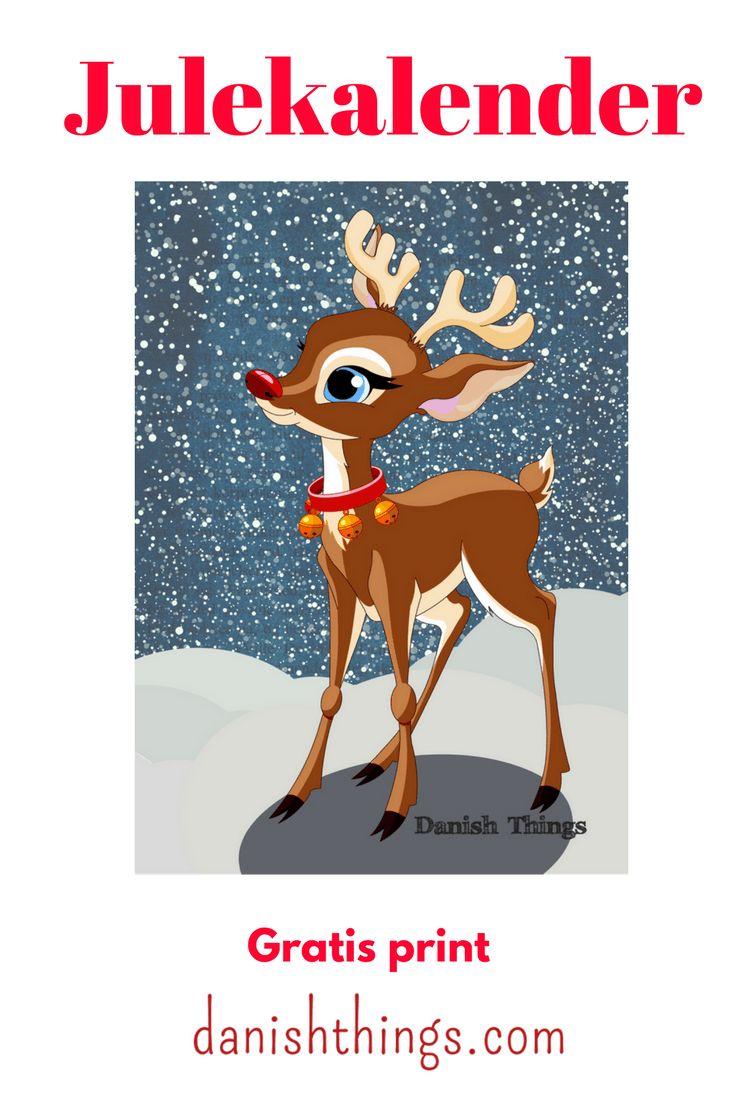 Juleplakat med Rudolf