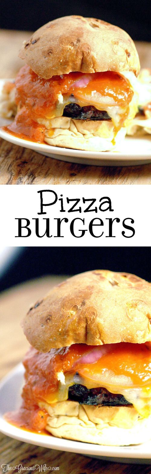 Pizza Burgers Recipe - a fun and easy dinner idea recipe perfect for summer and grilling for the whole family