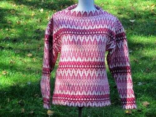 Vtg Iceland Sweater Hans Heitsch Sweden Jerry Modeller Pink Cream EXC | eBay