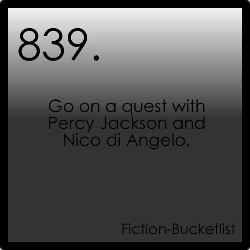 fiction bucket list  Percy Jackson and the olympians By Rick Riordan