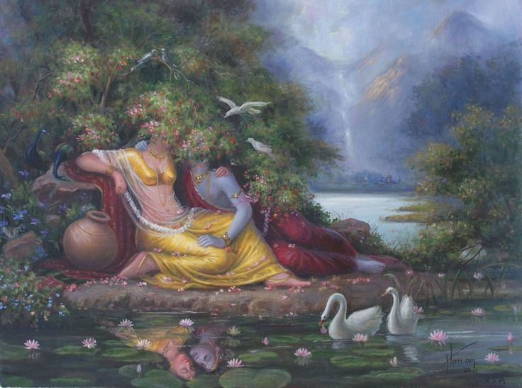 Radha Krishna Paintings of Hariom Singh URL: http://www.artforheart.in/