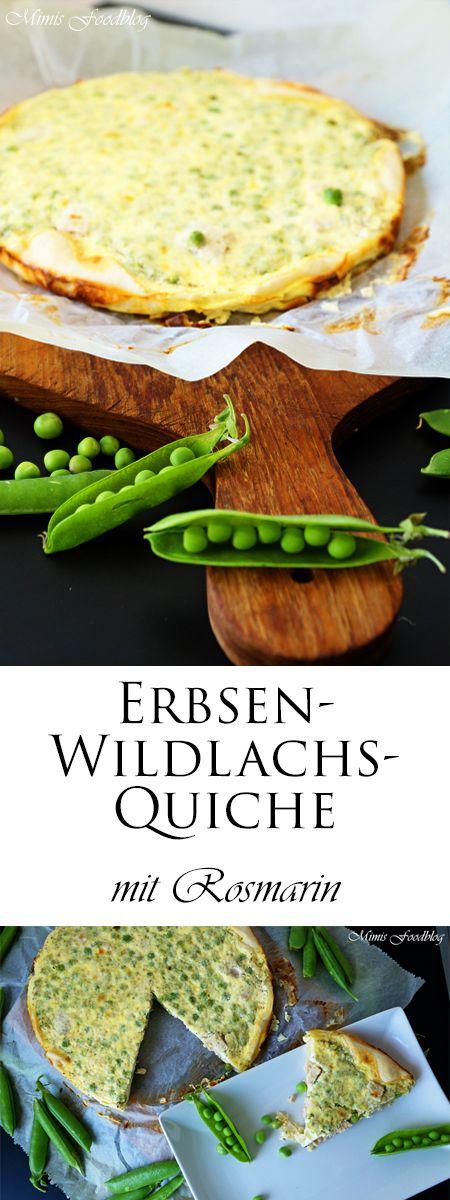 Ein leckeres und schnell zubereitetes Quiche-Rezept mit Erbsen und Wildlachs. Perfekt für den Frühsommer mit einem Salat.