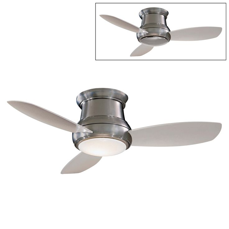 Small White Ceiling Fan With Light Home Design Ideas - Flush mount kitchen ceiling fans with lights