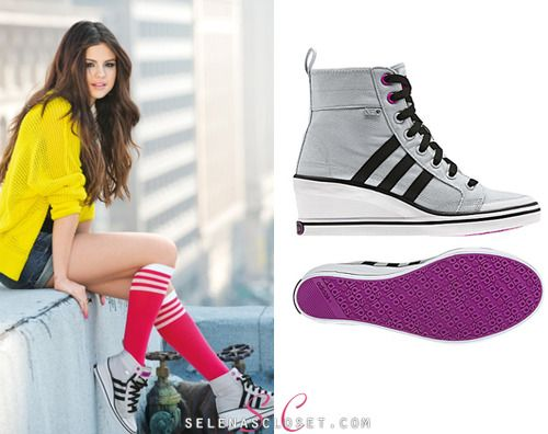 Check out these Adidas Neo WENEO Bball Shoes that Selena Gomez is sporting  in a promotional