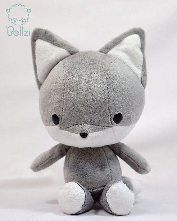 Fox stuffed animal - but maybe custom order as a wolf instead? $40 on etsy.