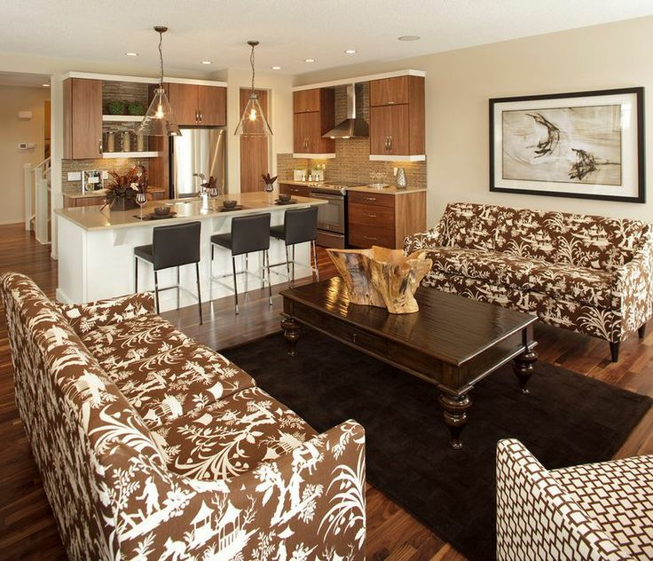 Great Rooms Tampa Part - 20: Open Great Room With Patterned Couches
