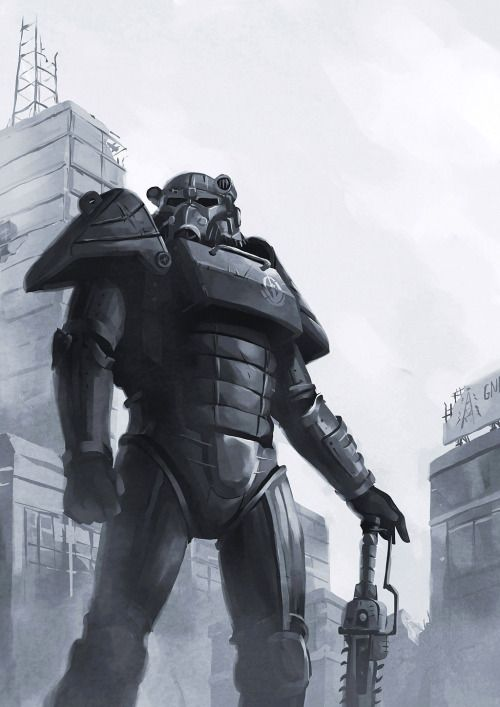 Of steel  Artist: Fang Kai  fallout fallout 3 fallout 4 brotherhood of steel bos