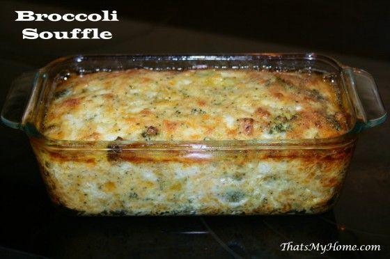 Broccoli Soufflé recipe from http://recipesfoodandcooking.com/ #broccolisouffle #vegetablerecipes #broccolirecipes