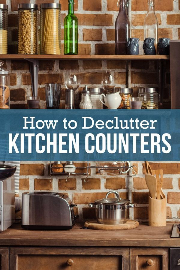 how to keep your kitchen counters clear efficient organization rh pinterest com