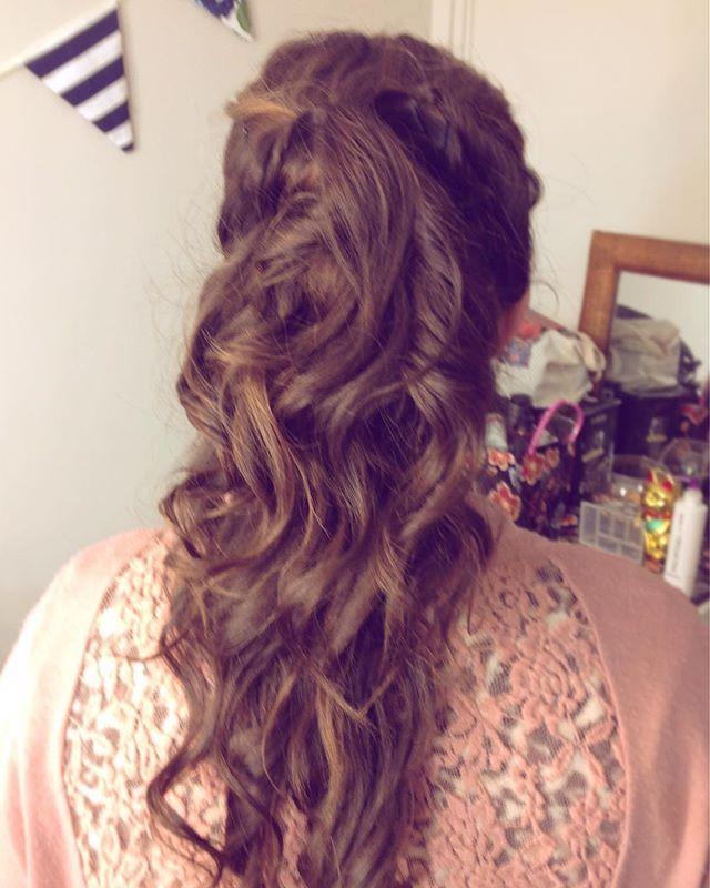 Prueba de peinado con ondas #novia #pruebadepeinado