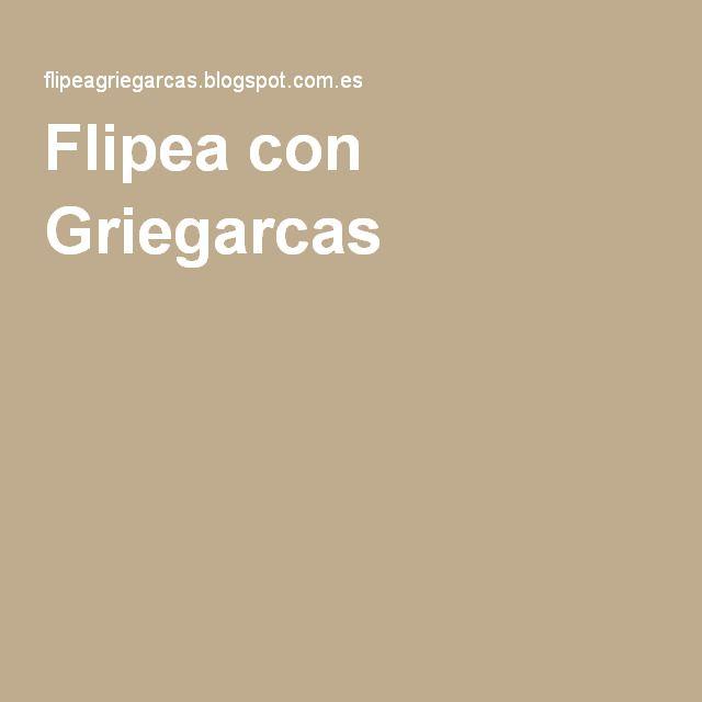 Flipea con Griegarcas es un reciente blog del profesor donde se ofrecen ideas, materiales y reflexiones sobre la metodología flipped