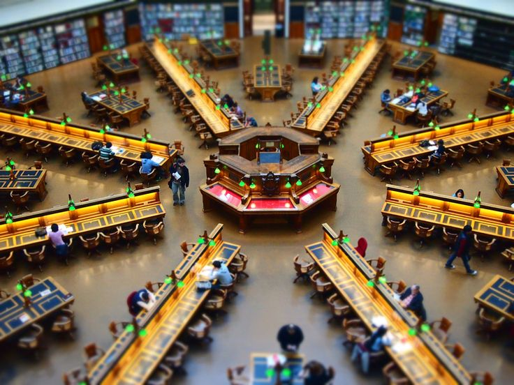 The Reading Room at the State Library of Victoria.