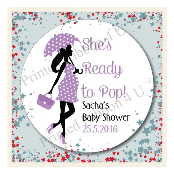 15 Mum To Be Ready To Pop Personalised Baby Shower Sticker Thank You Labels