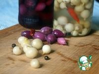 Маринованный лук жемчужный и рубиновый ингредиенты