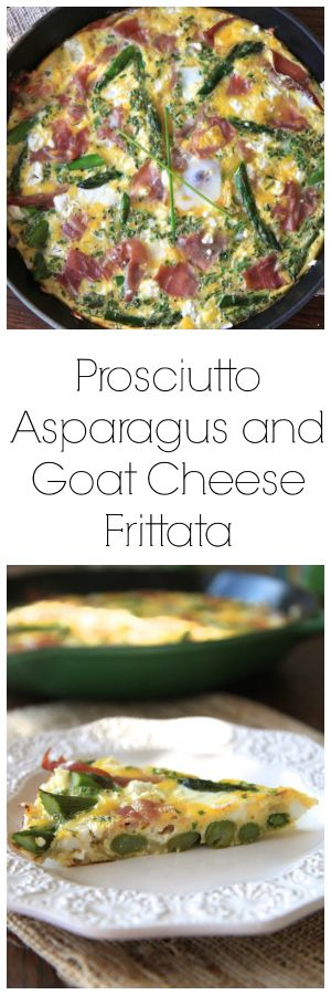 Prosciutto Asparagus and Goat Cheese Frittata