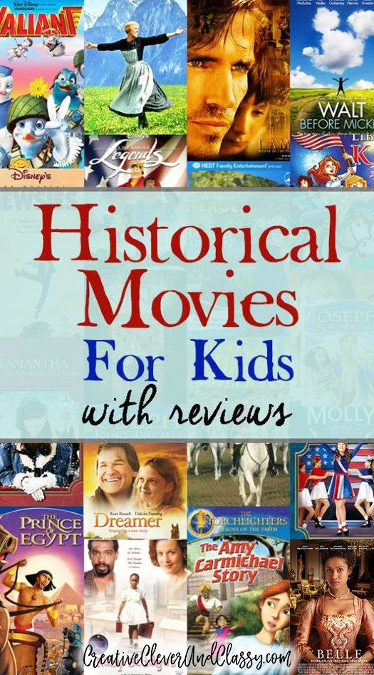 Historical Movies for Kids - great list with reviews!