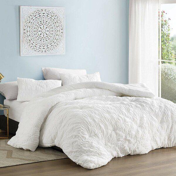 Byrne Farmhouse Comforter Set Textured Bedding Comforter Sets Oversized King Comforter