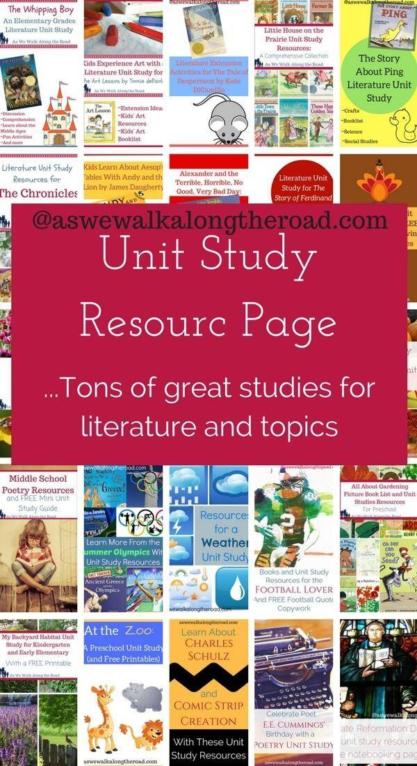 Topical and literature based unit studies unitstudies