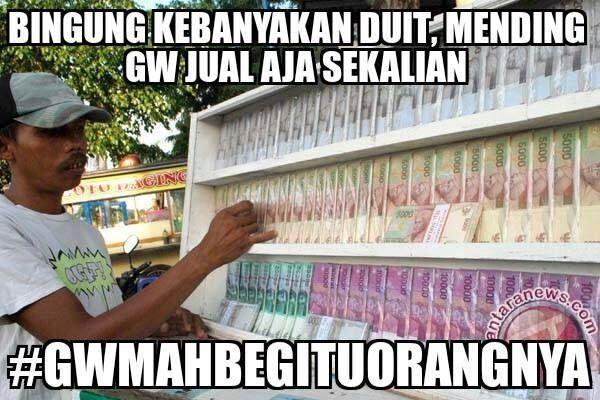 Bingung kebanyakan duit - #Meme - http://www.indomeme.com/meme/bingung-kebanyakan-duit/
