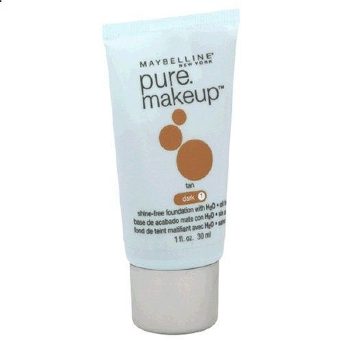 Maybelline Maybelline Pure Makeup Tan Dark 1 Women Foundation, 1 Ounce. View website for more description.