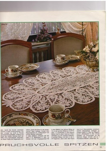 Romanian Point Lace tablecloth from the March 1993 issue of Anna Burda needlecraft magazine