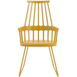 Kartell Stuhl Comeback Stuhl mit Kufen - gelb Patricia Urquiola, Technopolymer, Stahl, Esszimmerstuhl - Küchenstuhl - Speisezimmerstuhl
